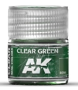 Real Colors: Clear Green Acrylic Lacquer Paint 10ml Bottle