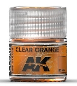 Real Colors: Clear Orange Acrylic Lacquer Paint 10ml Bottle