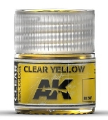 Real Colors: Clear Yellow Acrylic Lacquer Paint 10ml Bottle