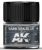 Real Colors: Dark Sea Blue Acrylic Lacquer Paint 10ml Bottle