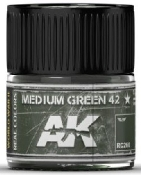 Real Colors: Medium Green 42 Acrylic Lacquer Paint 10ml Bottle
