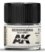 Real Colors: Silk Grey RAL7044 Acrylic Lacquer Paint 10ml Bottle