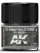 Real Colors: US Army Helo Drab FS34031 Acrylic Lacquer Paint 10ml Bottle