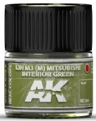 Real Colors: IJN M3 (M) Mitsubishi Interior Green Acrylic Lacquer Paint 10ml Bottle
