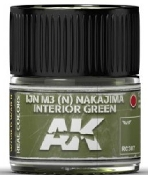 Real Colors: IJN M3 (N) Nakajima Interior Green Acrylic Lacquer Paint 10ml Bottle