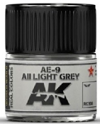 Real Colors: AE9/AII Light Grey Acrylic Lacquer Paint 10ml Bottle