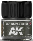 Real Colors: RAF Dark Green Acrylic Lacquer Paint 10ml Bottle