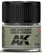 Real Colors: RAF Cockpit Grey-Green Acrylic Lacquer Paint 10ml Bottle