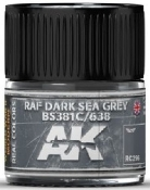 Real Colors: RAF Dark Sea Grey BS381C/638 Acrylic Lacquer Paint 10ml Bottle