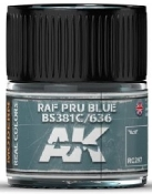 Real Colors: RAF PRU Blue BS381C/636 Acrylic Lacquer Paint 10ml Bottle