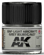 Real Colors: RAF Light Aircraft Grey BS381C/627 Acrylic Lacquer Paint 10ml Bottle
