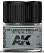 Real Colors: RAF Camouflage (Barley) Grey BS381C/626 Acrylic Lacquer Paint 10ml Bottle