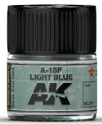 Real Colors: A18F Light Grey-Blue Acrylic Lacquer Paint 10ml Bottle