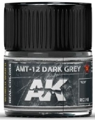 Real Colors: AMT12 Dark Grey Acrylic Lacquer Paint 10ml Bottle