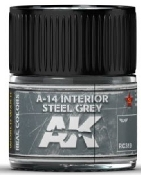 Real Colors: A14 Interior Steel Grey Acrylic Lacquer Paint 10ml Bottle