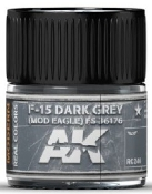 Real Colors: F15 Dark Grey (Mod Eagle) FS36176 Acrylic Lacquer Paint 10ml Bottle