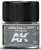 Real Colors: Dark Gull Grey FS36231 Acrylic Lacquer Paint 10ml Bottle
