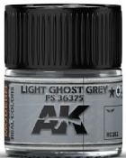 Real Colors: Light Ghost Grey FS36375 Acrylic Lacquer Paint 10ml Bottle
