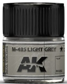 Real Colors: M485 Light Grey Acrylic Lacquer Paint 10ml Bottle