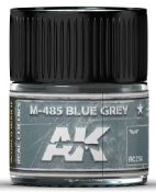 Real Colors: M485 Blue Grey Acrylic Lacquer Paint 10ml Bottle