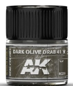 Real Colors: Dark Olive Drab 41 Acrylic Lacquer Paint 10ml Bottle