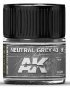 Real Colors: Neutral Grey 43 Acrylic Lacquer Paint 10ml Bottle