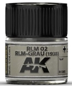 Real Colors: RLM02 RLM-Grau (1938) Acrylic Lacquer Paint 10ml Bottle
