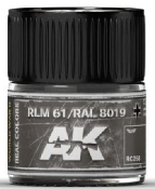 Real Colors: RLM61/RAL8019 Acrylic Lacquer Paint 10ml Bottle