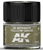Real Colors: US Interior Yellow Green Acrylic Lacquer Paint 10ml Bottle