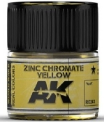 Real Colors: Zinc Chromate Yellow Acrylic Lacquer Paint 10ml Bottle