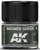 Real Colors: Bronze Green Acrylic Lacquer Paint 10ml Bottle
