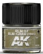 Real Colors: RLM02 RLM-Grau (1941) Acrylic Lacquer Paint 10ml Bottle