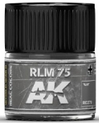 Real Colors: RLM75 Acrylic Lacquer Paint 10ml Bottle