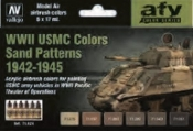 17ml Bottle WWII USMC Sand Patterns 1942-1945 Model Air AFV Paint Set (6 Colors)